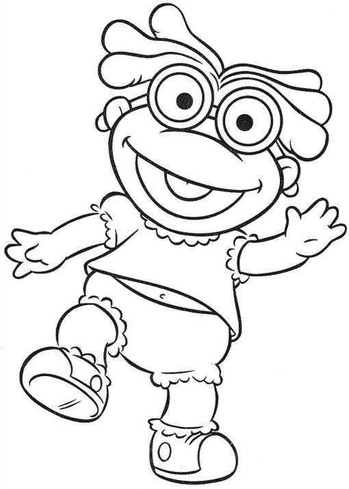 Coloriage et dessins gratuits Bébé Kermit en souriant à imprimer