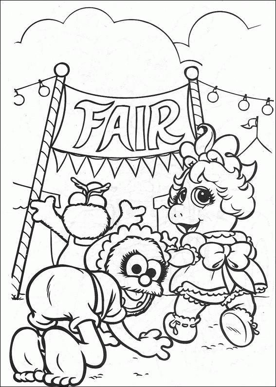 Coloriage et dessins gratuits Bébé marionnettes vont au cirque à imprimer