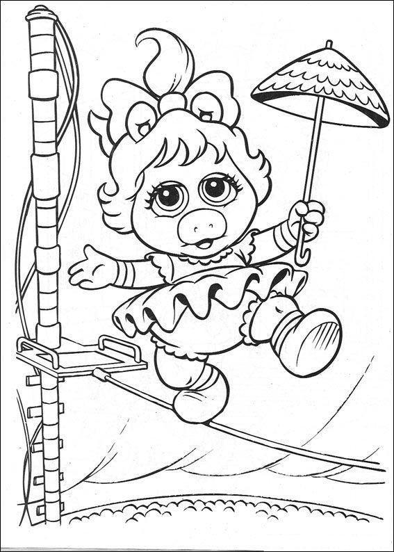 Coloriage et dessins gratuits Bébé Miss Piggy au cirque à imprimer