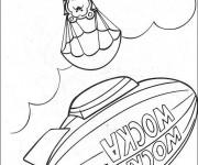 Coloriage Dessin Fozzie parachuté