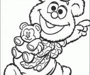 Coloriage Fozzie et son jouet