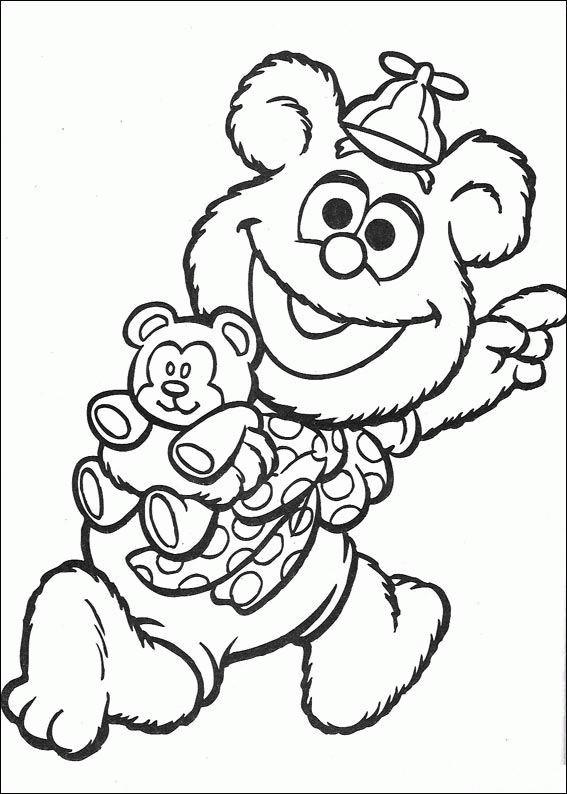 Coloriage et dessins gratuits Fozzie et son jouet à imprimer