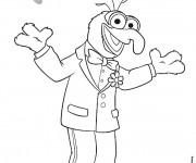 Coloriage et dessins gratuit gonzo muppet show français à imprimer