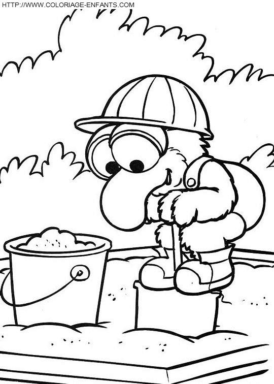 Coloriage et dessins gratuits Gonzo s'amuse au jardin en couleur à imprimer
