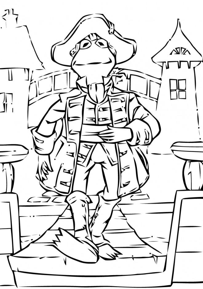 Coloriage et dessins gratuits kermit la grenouille pirate dessin à imprimer