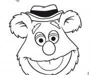 Coloriage et dessins gratuit Les Muppets Bobo l'ours à imprimer
