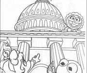Coloriage et dessins gratuit Les Muppets font un tour touristique dessin à imprimer
