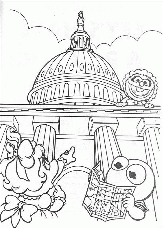 Coloriage et dessins gratuits Les Muppets font un tour touristique dessin à imprimer