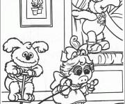 Coloriage Les Muppets jouent en ligne