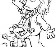Coloriage et dessins gratuit Les Muppets personnages dansent à imprimer
