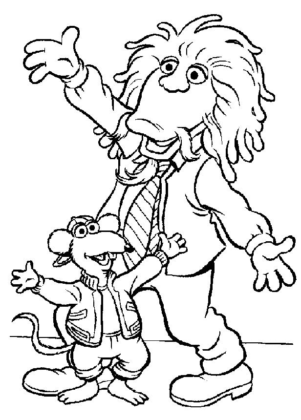 Coloriage et dessins gratuits Les Muppets personnages dansent à imprimer