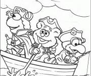 Coloriage Les Muppets pirates en couleur