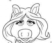 Coloriage Miss Piggy en couleur
