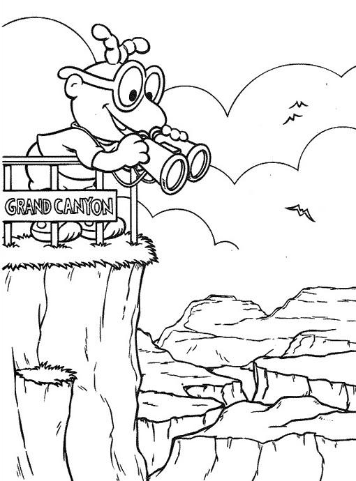 Coloriage et dessins gratuits Muppet sur une falaise en ligne à imprimer