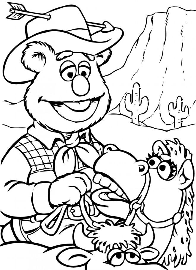 Coloriage et dessins gratuits Ralf dans le désert à imprimer