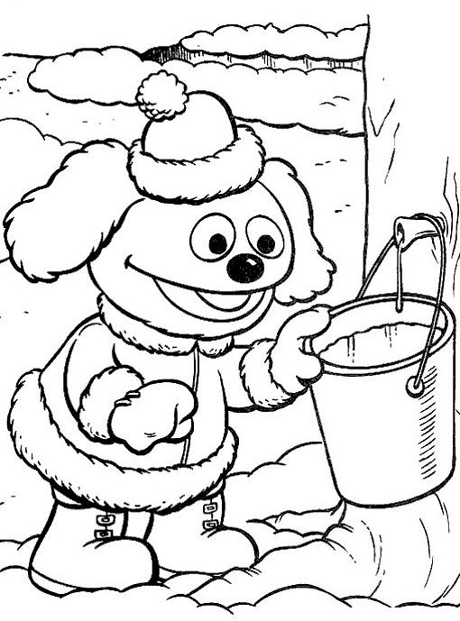 Coloriage et dessins gratuits rowlf dessin en ligne à imprimer