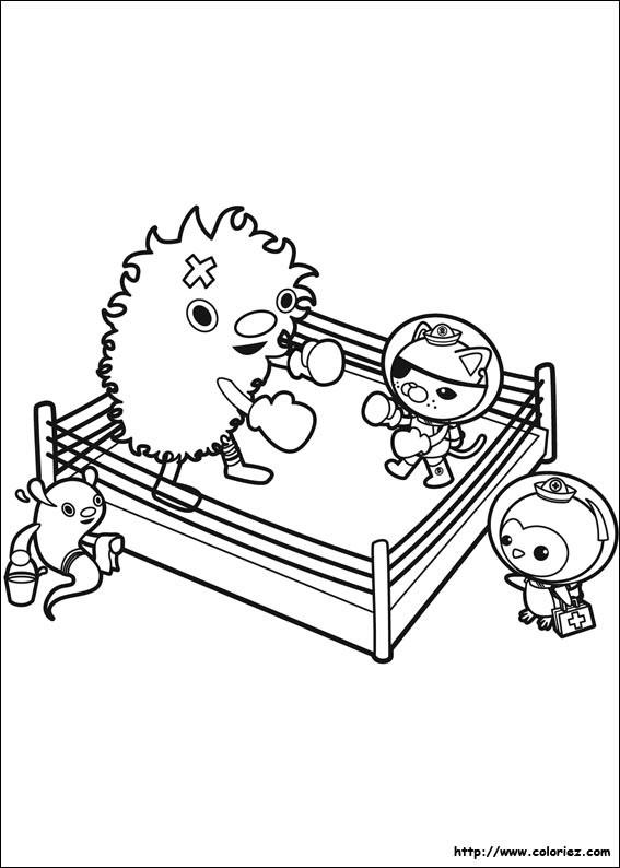Coloriage et dessins gratuits Captain Barnacles boxeur pour enfant à imprimer