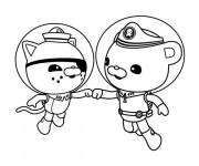 Coloriage et dessins gratuit Captain Barnacles et Kwazii serrent les mains en ligne à imprimer