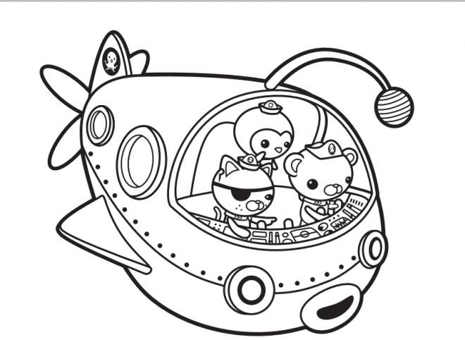 Coloriage et dessins gratuits Les Octonauts dessin sur ordinateur à imprimer