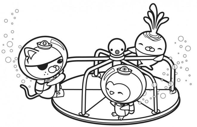 Coloriage et dessins gratuits Les Octonauts jouent en couleur à imprimer