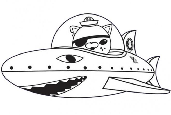 Coloriage et dessins gratuits Les Octonauts kwazii pour garçon à imprimer