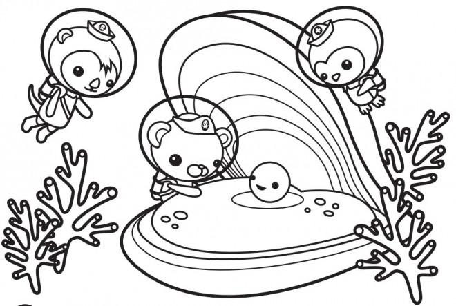 Coloriage et dessins gratuits Les Octonauts pour enfant à imprimer