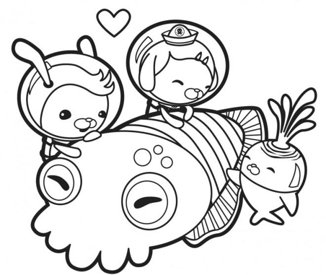 Coloriage et dessins gratuits Les Octonauts s'amusent pour fille à imprimer