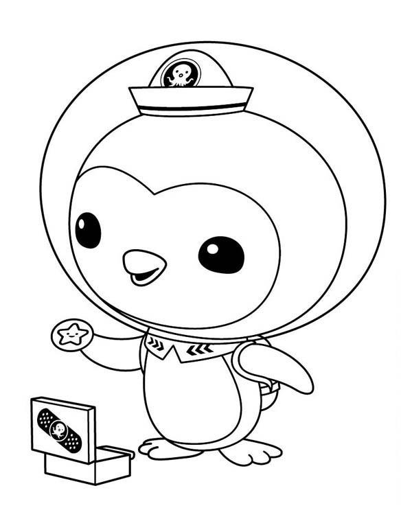 Coloriage et dessins gratuits Les Octonauts shellington porte une étoile à imprimer