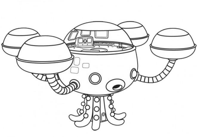 Coloriage et dessins gratuits Octocapsule magique à imprimer