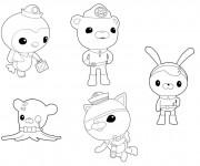 Coloriage Personnages des Octonauts disney