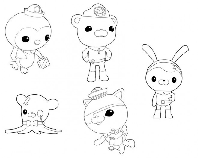 Coloriage et dessins gratuits Personnages des Octonauts disney à imprimer
