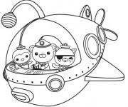 Coloriage et dessins gratuit Shellington, Kwazii et Captain Barnacles à imprimer