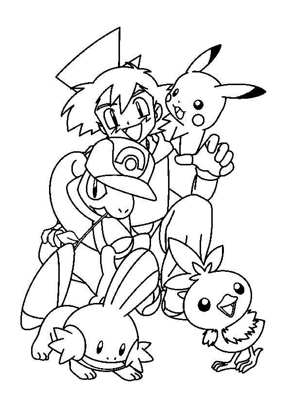 Coloriage les pok mons de sacha dessin gratuit imprimer - Coloriage pikachu en ligne ...