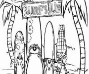 Coloriage et dessins gratuit Les Rois de la glisse pour enfant à imprimer