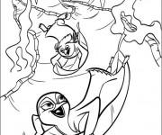 Coloriage et dessins gratuit Scène Les Rois de la glisse à imprimer
