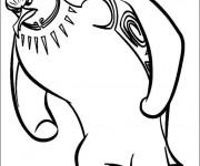 Coloriage et dessins gratuit Tank Evans en noir et blanc à imprimer