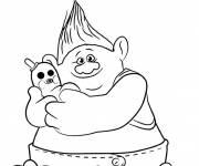 Coloriage et dessins gratuit Les trolls Biggie à imprimer