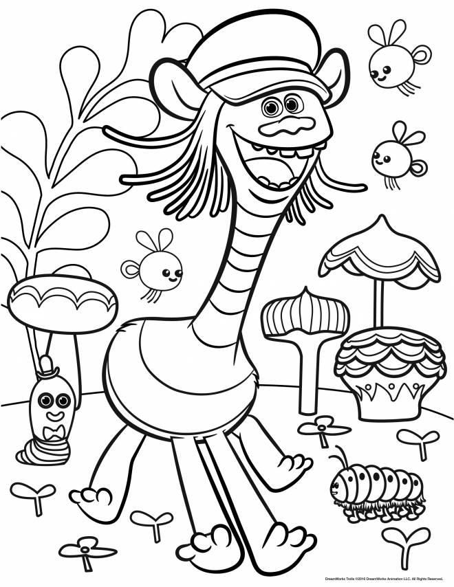 Coloriage et dessins gratuits Les trolls Cooper à imprimer