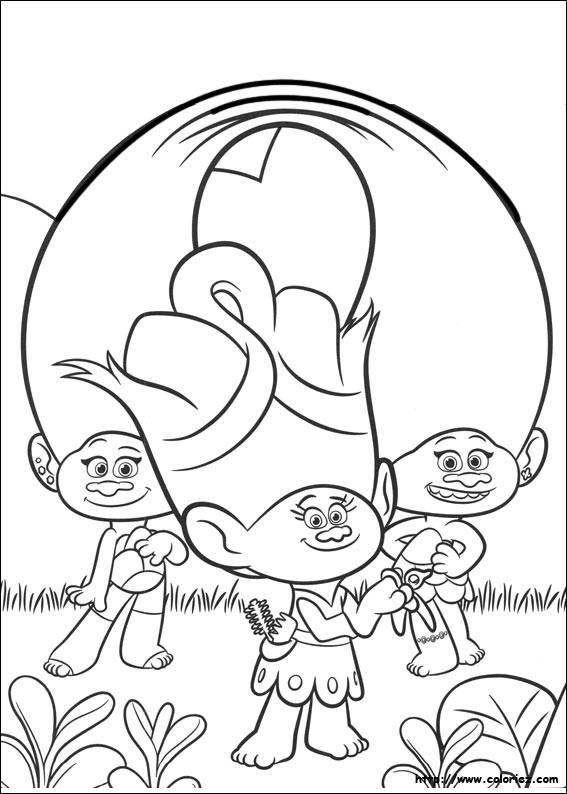 Coloriage et dessins gratuits Les trolls Dreamworks à imprimer