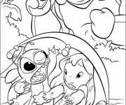 Coloriage Dessin Lilo, Stitch et le monstre