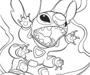Coloriage Dessin Stitch kawaii