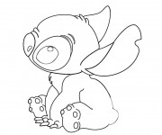 Coloriage Dessin Stitch mignon facile