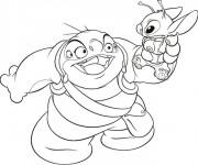 Coloriage dessin  Lilo et Stitch 10