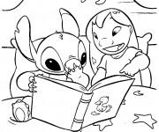 Coloriage dessin  Lilo et Stitch 12