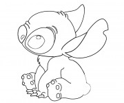 Coloriage dessin  Lilo et Stitch 4