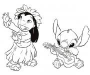 Coloriage dessin  Lilo et Stitch 7