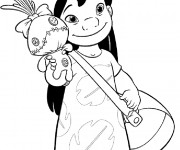Coloriage dessin  Lilo et Stitch 8