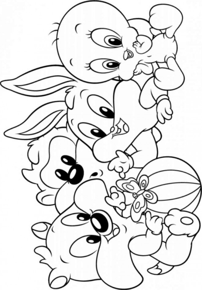 Coloriage dessin looney tunes personnages dessin gratuit imprimer - Dessin looney tunes ...