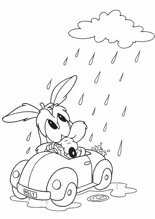 Coloriage et dessins gratuits Looney Tunes Coyote bébé à imprimer