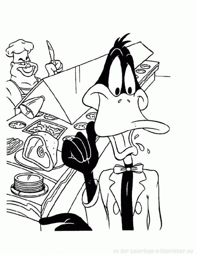 Coloriage et dessins gratuits Looney Tunes Daffy en ligne à imprimer
